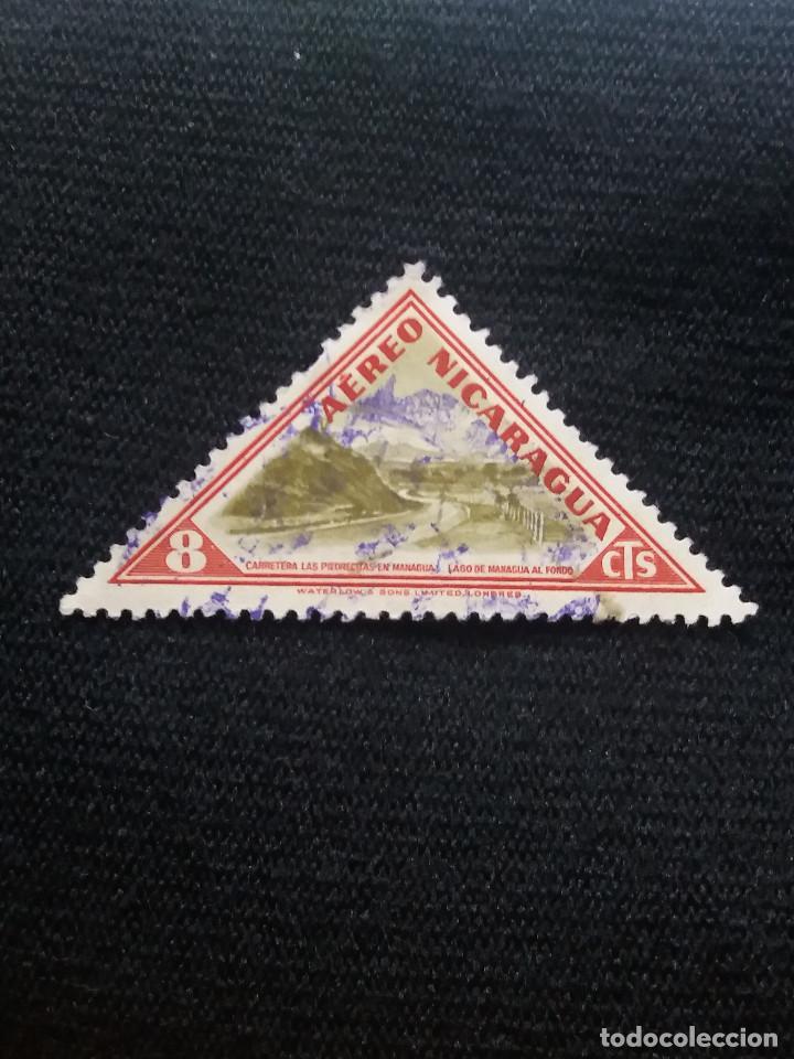 NICARAGUA, 8 CTS, AEREO, AÑO 1947, (Sellos - Extranjero - América - Nicaragua)