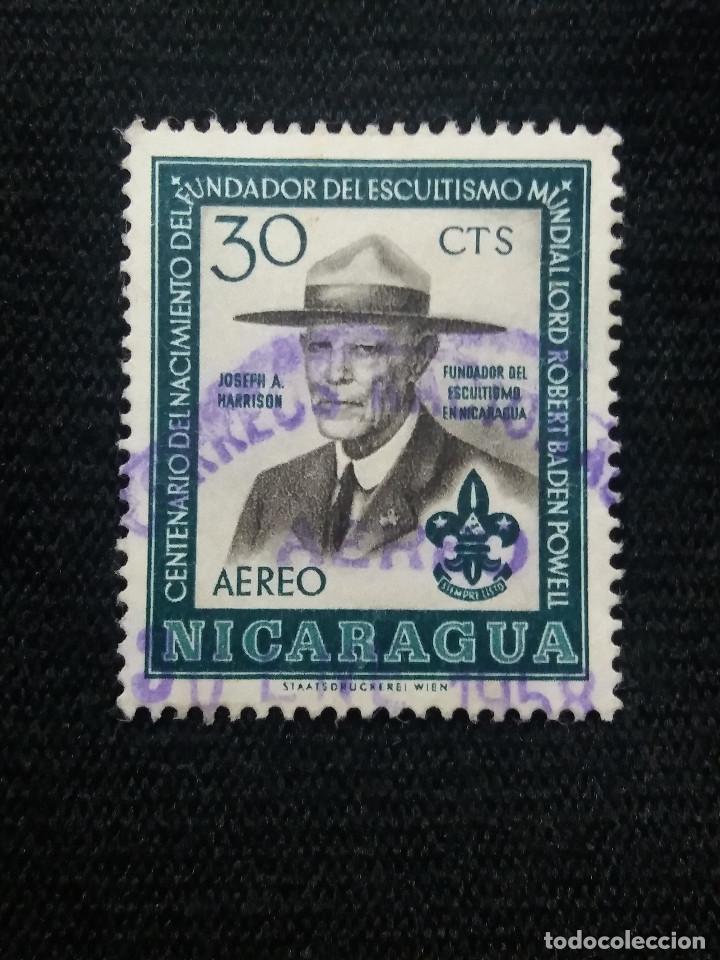 NICARAGUA, 30 CTS, AEREO, JOSEPH A. HARRISON, AÑO 1950, (Sellos - Extranjero - América - Nicaragua)