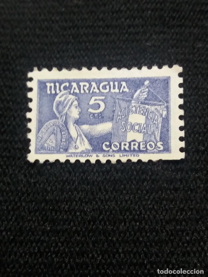 NICARAGUA, 5 CTS, ASISTENCIA SOCIAL. AÑO 1956 SIN USAR (Sellos - Extranjero - América - Nicaragua)