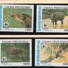 Sellos: NICARAGUA SERIE MNH 1985 MICHEL 2627 A 2630 WWF. Lote 215464558