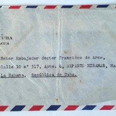 Sellos: SOBRE EMBAJADA DE CUBA EN NICARAGUA. 1958.. Lote 215566495