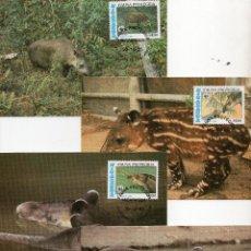 Sellos: NICARAGUA SERIE TARJETAS MAXIMA PRIMER DIA 1985 MICHEL 2627 A 2630 WWF. Lote 215580882
