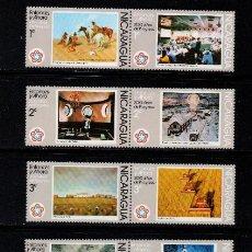Sellos: NICARAGUA 1041/50 Y AEREO 876/81** - AÑO 1976 - BICENTENARIO DE LA INDEPENDENCIA DE ESTADOS UNIDOS. Lote 218151890