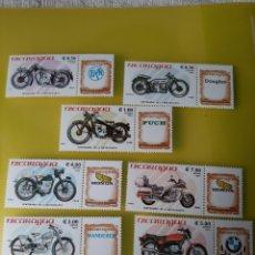 Francobolli: NICARAGUA TRANSPORTES MOTOS 1985 YVERT 1368-/70 /A 1093/6 SERIE COMPLETA NUEVA. Lote 219705411