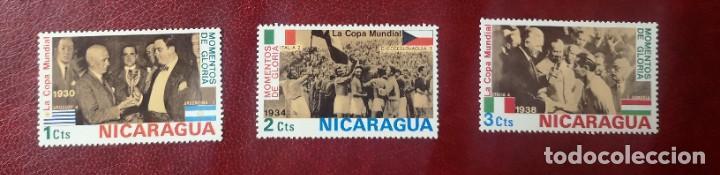 NICARAGUA 1974 -LOTE 3 SELLOS NUEVOS FUTBOL (Sellos - Extranjero - América - Nicaragua)