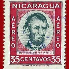 Sellos: NICARAGUA. 1960. ABRAHAM LINCOLN. Lote 221658441