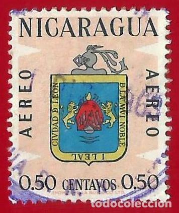 NICARAGUA. 1962. ESCUDO DE CIUDAD DE LEON (Sellos - Extranjero - América - Nicaragua)