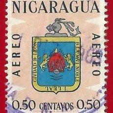 Sellos: NICARAGUA. 1962. ESCUDO DE CIUDAD DE LEON. Lote 221662518