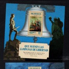 Sellos: NICARAGUA HB 121/22** - AÑO 1975 - BICENTENARIO DE LA INDEPENDENCIA DE ESTADOS UNIDOS. Lote 222056773