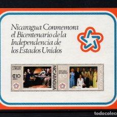 Sellos: NICARAGUA HB 127** - AÑO 1976 - BICENTENARIO DE LA INDEPENDENCIA DE ESTADOS UNIDOS. Lote 222056962