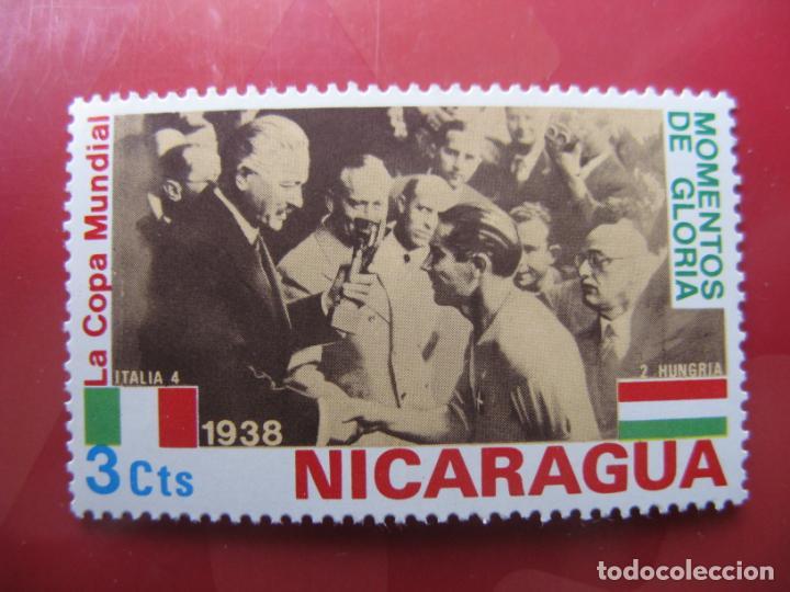 +NICARAGUA, 1974, COPA DEL MUNDO DE FUTBOL,MOMENTOS DE GLORIA, YVERT 955 (Sellos - Extranjero - América - Nicaragua)