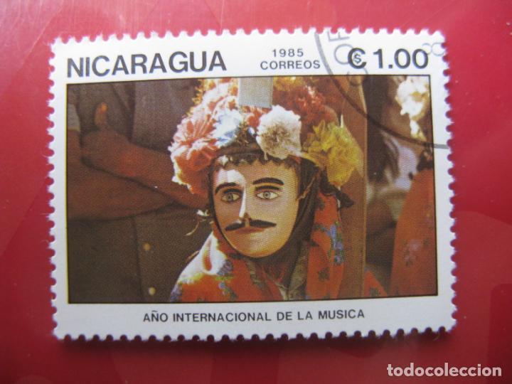 +NICARAGUA, 1985,AÑO INTERNACIONAL DE LA MUSICA, YVERT 1377 (Sellos - Extranjero - América - Nicaragua)