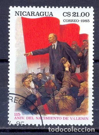 NICARAGUA, 1985, PREOBLITERADO-115 ANIV. DEL NACIMIENTO DE LENIN (Sellos - Extranjero - América - Nicaragua)