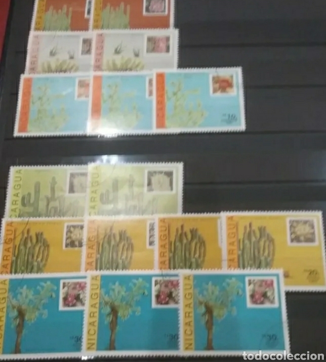 Sellos: Sellos Colección R. Nicaragua mtdos y nuevos/series campletas/década 80/stock/flora/faun/arte/Clasi3 - Foto 4 - 224873538