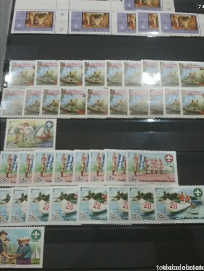 Sellos: Sellos Colección R. Nicaragua mtdos y nuevos/series campletas/década 80/stock/flora/faun/arte/Clasi3 - Foto 7 - 224873538