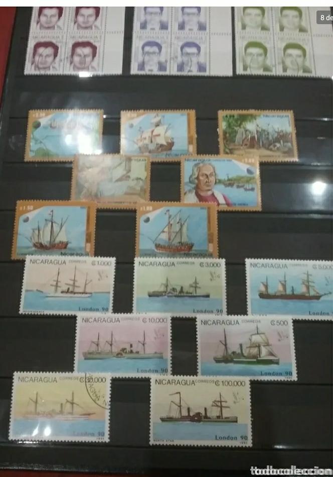 Sellos: Sellos Colección R. Nicaragua mtdos y nuevos/series campletas/década 80/stock/flora/faun/arte/Clasi3 - Foto 8 - 224873538
