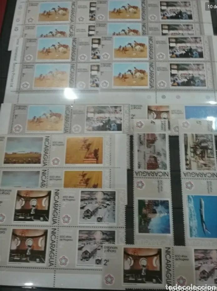Sellos: Sellos Colección R. Nicaragua mtdos y nuevos/series campletas/década 80/stock/flora/faun/arte/Clasi3 - Foto 10 - 224873538