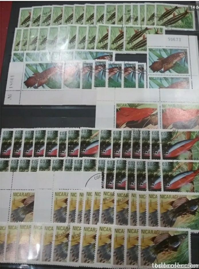 Sellos: Sellos Colección R. Nicaragua mtdos y nuevos/series campletas/década 80/stock/flora/faun/arte/Clasi3 - Foto 14 - 224873538