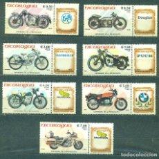 Sellos: NI-2634 NICARAGUA 1985 MNH THE 100TH ANNIVERSARY OF MOTORCYCLE. Lote 226315825