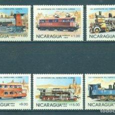 Sellos: NI-2645 NICARAGUA 1985 MNH THE 100TH ANNIVERSARY OF NICARAGUAN RAILROADS - THE 150TH ANNIVERSARY OF. Lote 226315870