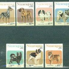 Sellos: NI-2856 NICARAGUA 1987 MNH DOGS. Lote 226316061