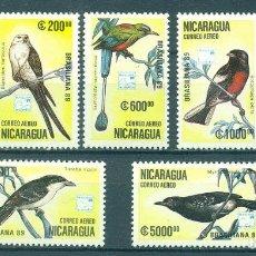 Sellos: NI-3032 NICARAGUA 1989 MNH AIRMAIL - BIRDS - INTERNATIONAL STAMP EXHIBITION BRASILIANA '89 - RIO DE. Lote 226322055