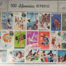 Sellos: 100 SELLOS DISTINTOS DE DEPORTES. Lote 230944940