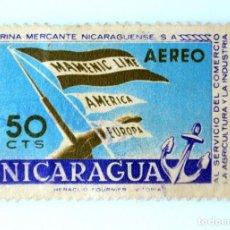 Sellos: SELLO POSTAL NICARAGUA 1957 , 50 C, MARINA MERCANTE NICARAGUENSE, USADO. Lote 231436210