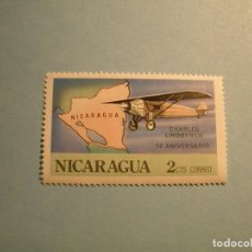 Sellos: NICARAGUA - AVIACION - CHARLES LINDBERGH.. Lote 236701380