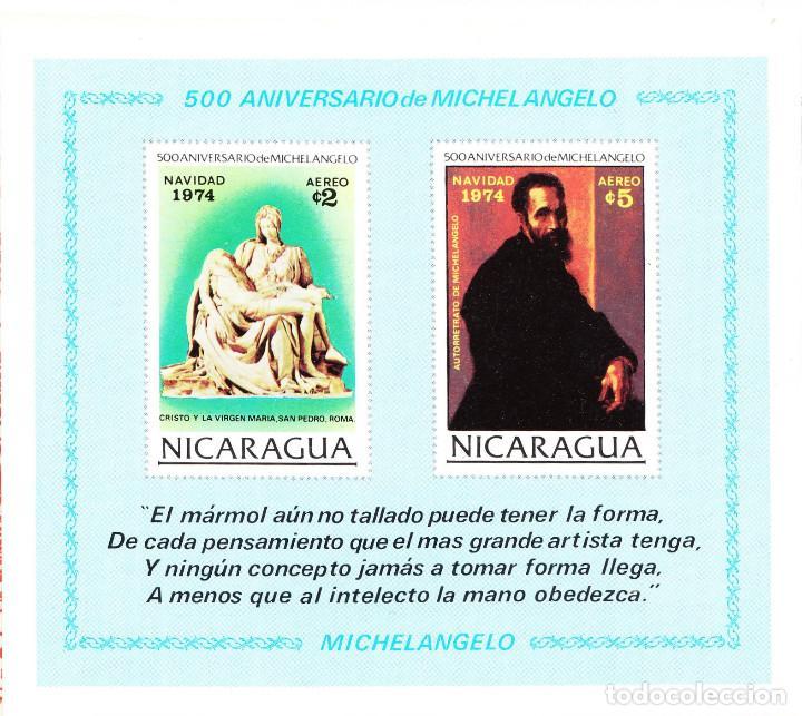 1974 NR. YVERT: B119 NICARAGUA 500 ANIVERSARIO MICHEL ANGELO ** (Sellos - Extranjero - América - Nicaragua)