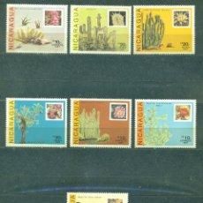 Sellos: NICARAGUA 1987 CACTI MNH - CACTI. Lote 241344475