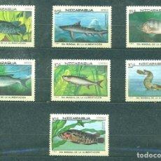Sellos: NICARAGUA 1987 WORLD FOOD DAY MNH - FISH. Lote 241344565
