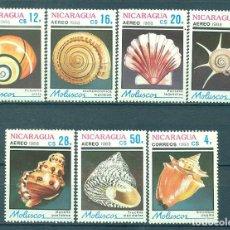 Sellos: NICARAGUA 1988 SHELLS MNH - SHELLS. Lote 241344655