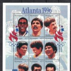 Sellos: NICARAGUA 1996 OLYMPIC GAMES - ATLANTA USA - BOXERS MNH - BOXING. Lote 241353150