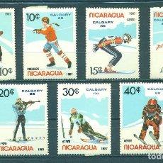 Sellos: NICARAGUA 1987 WINTER OLYMPICS - CALGARY CANADA 1988 MNH - SPORT. Lote 241500940