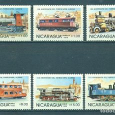 Sellos: 🚩 NICARAGUA 1985 THE 100TH ANNIVERSARY OF NICARAGUAN RAILROADS - THE 150TH ANNIVERSARY OF GE. Lote 241650585