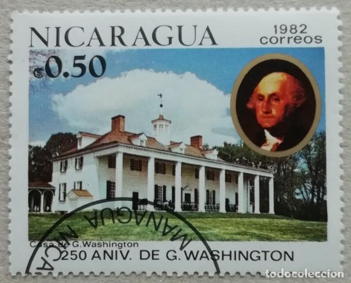 1982. NICARAGUA. 1200. 250 ANIV. NACIMIENTO GEORGE WASHINGTON. VERMON MOUNT. SERIE COMPLETA. NUEVO. (Sellos - Extranjero - América - Nicaragua)
