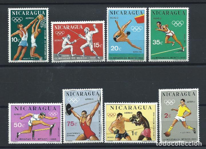 NICARAGUA PA N°627/34** (MNH) 1968 - J.O DE MEXICO (Sellos - Extranjero - América - Nicaragua)