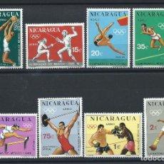 Sellos: NICARAGUA PA N°627/34** (MNH) 1968 - J.O DE MEXICO. Lote 244482305