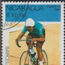 Sellos: NICARAGUA 1990 SCOTT 1810 SELLO * DEPORTES JUEGOS OLIMPICOS BARCELONA ESPAÑA CICLISMO MICHEL 2998. Lote 244666275