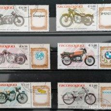Sellos: NICARAGUA ,1985 . 100ª ANIV. MOTOCICLETA *,MH. (21-288). Lote 252506340