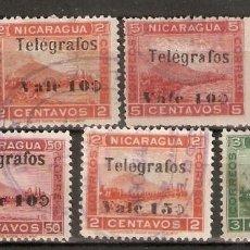 Sellos: NICARAGUA. 1907. TELÉGRAFOS. 89/95. Lote 252939370
