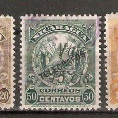 Francobolli: NICARAGUA. 1910-11. TIMBRES -POSTE DE 1900. CON SOBRECARGA. TELÉGRAFOS. Lote 252940445