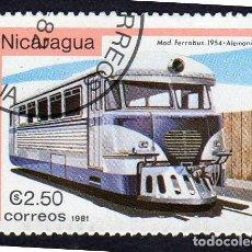Sellos: AMÉRICA. NICARAGUA,FERROBUS.DE 1954 ALEMÁN . YTP1174. USADO SIN CHARNELA. Lote 253704230