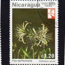 Sellos: AMÉRICA. NICARAGUA,FLORES..POCHOTE.YT1219. USADO SIN CHARNELA. Lote 253705280