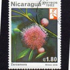 Sellos: AMÉRICA. NICARAGUA,FLORES. ZARZAMORA.YT1220. USADO SIN CHARNELA. Lote 253705845