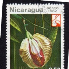 Sellos: AMÉRICA. NICARAGUA,FLORES..OCHOTE.YTPA1005. USADO SIN CHARNELA. Lote 253706820