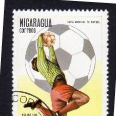 Sellos: AMÉRICA. NICARAGUA,COPA MUNDIAL DE FUTBOL ESPAÑA 82 .YT1178. USADO SIN CHARNELA. Lote 253707220
