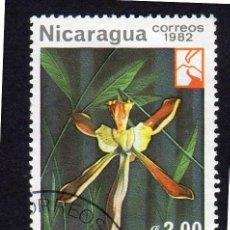 Sellos: AMÉRICA. NICARAGUA, FLORES. ORQUÍDEA CRUCIFIJO.YT1221. USADO SIN CHARNELA. Lote 253710015