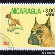 Sellos: V AM-NCRG-PA981 AMÉRICA. NICARAGUA, PERROS .BÓXER .YTPA982. USADO SIN CHARNELA 1 1 0,10. Lote 253745020